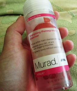Murad Energizing Pomegranate Cleanser is great for cleansing combination skin.
