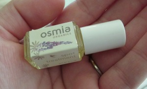 Osmia Organics Spot Treatment is made with eight different organic oils and zaps zits almost overnight.