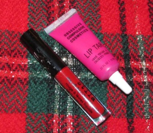 Why not go bold with Obsessive Compulsive Cosmetics Lip Tar in Anime (top) or Stila Stay All Day Liquid Lipstick in Beso?